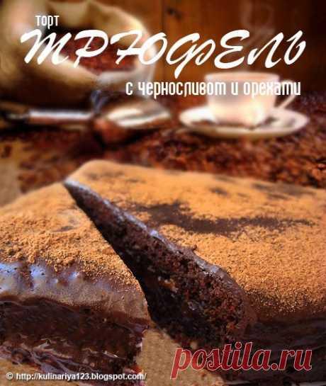 """Торт """"Трюфель"""" с черносливом и орехами. Автор Алия"""