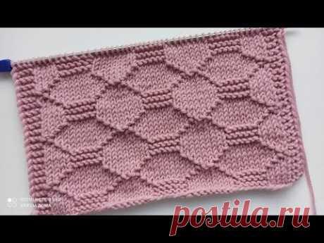Рельефный, простой узор спицами для вязания кардигана, джемпера, свитера, шапки.