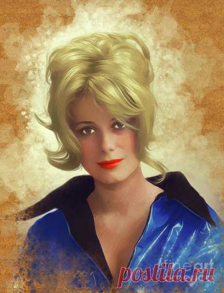 Catharine Deneuve, Vintage Actress by Esoterica Art Agency Catharine Deneuve, Vintage Actress Painting by Esoterica Art Agency