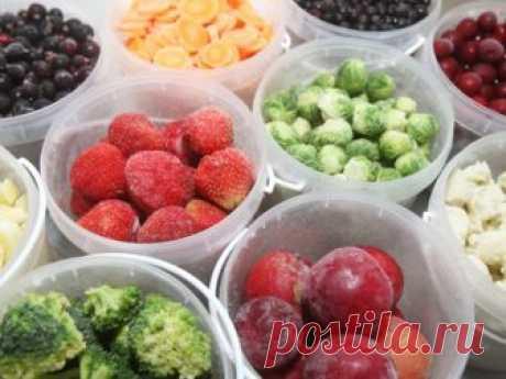 Какие ягоды и овощи можно замораживать на зиму, и как это правильно делать