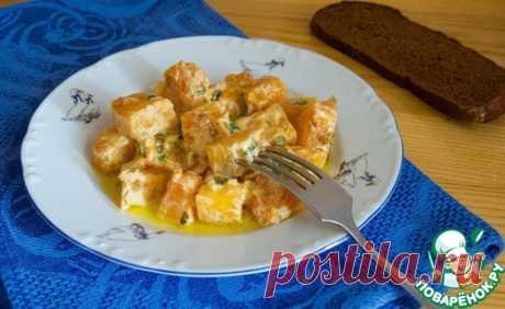 Тыква в сметанно-чесночном соусе - кулинарный рецепт