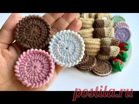 МК: печенье Орео крючком/crochet amigurumi food tutorial