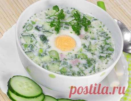 Холодные супы: топ 5 рецептов 1. Окрошка на кефире и газированной воде. Ингредиенты: ● 4 средних картофеля, ● 4 яйца, 5 огурцов, ● 150 г салями, ● 220 г редиса, ● 2 пучка зеленого