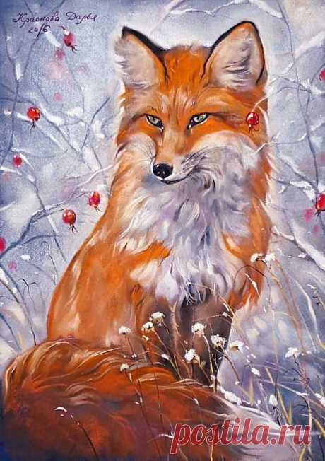 Схема вышивки «Дарья Краснова - Жила-была лисица...» - Вышивка крестом