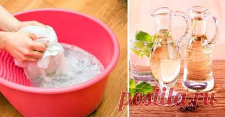 9 причин добавить в воду во время стирки обычный столовый уксус