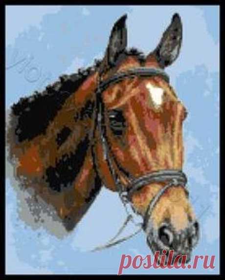 Three Horses Cross Stitch Pattern   Схемы Для Вышивки Крестиком