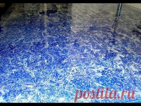 Необычная покраска своими руками - Морозный рисунок . Crystal FX Do It Yourself