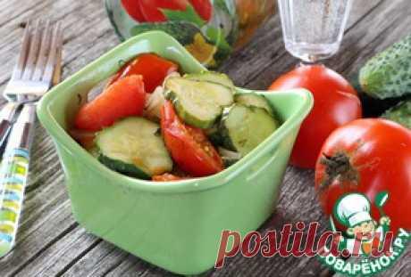 Салат из помидоров и огурцов на зиму - кулинарный рецепт