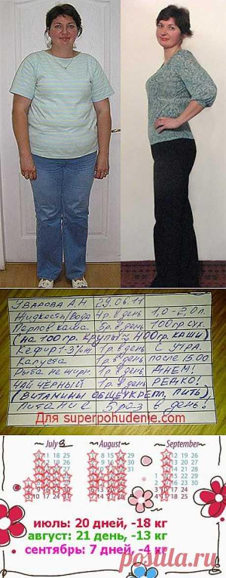 Диета Пушинка. Минус 35 кг! / Копилка диет - только Ваши рецепты / Похудеть быстро и эффективно
