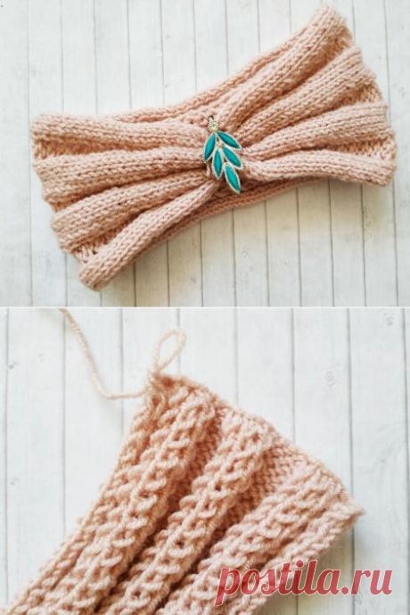 Связала повязку на голову к весне, сэкономила больше 1000 рублей » «Хомяк55» - всё о вязании спицами и крючком