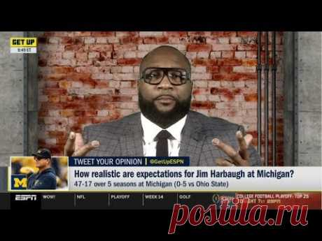 ESPN GET UP | Marcus Spears DEBATE: How realistic are expectations for Jim Harbaugh at Michigan?
