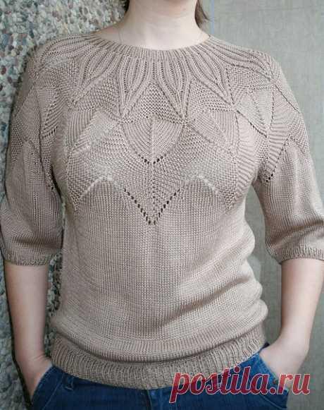 Пуловер с круглой кокеткой спицами. Схемы узоров для круглой кокетки спицами Пуловер с круглой кокеткой спицами. Схемы узоров для круглой кокетки спицами