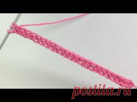 Ленточка-бретелька для топика / Вязание спицами - YouTube