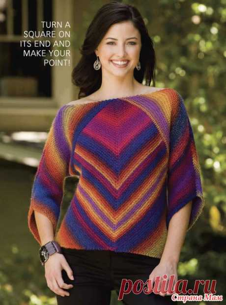 . Мой радужный пуловер из КАУНИ Радуга (модель МАГИЧЕСКИЙ КВАДРАТ) - Вязание спицами - Страна Мам