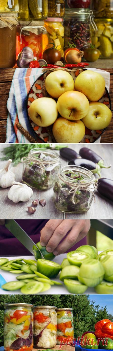 Маринование на зиму: грибы, яблоки, фасоль, баклажаны, зеленые помидоры. Рецепты