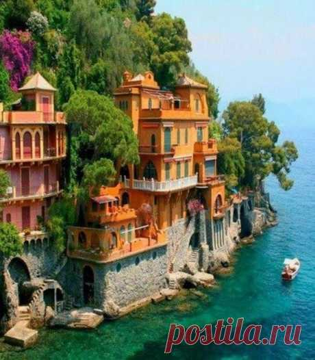 This place is considered one of the best places for a unification with the nature. Once it was the silent fishing small village, however of this fact in modern Portofino any more nothing is reminded. Portofino, Italy