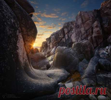 Рассвет в каньоне, Кольский полуостров. Автор фото — Сергей Королев: