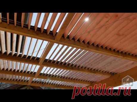 Comment construire une pergola bioclimatique - YouTube