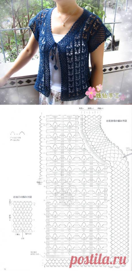 Lacy Crocheted Cardigan/Jacket