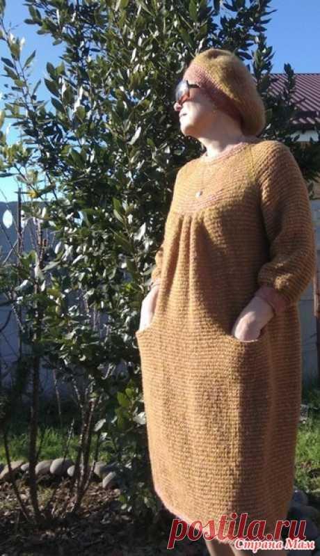 Бохо-платье туннелем с историей и описанием - Вязание - Страна Мам