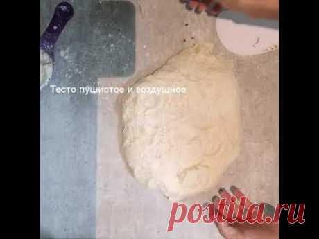 Простой хлеб на закваске без замеса и без опары