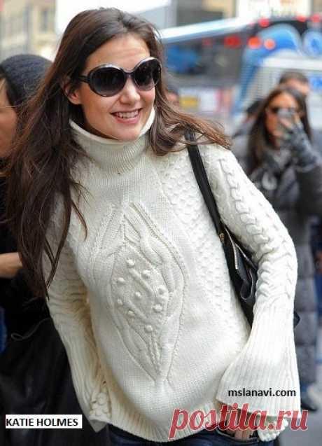 Оригинальный пуловер спицами от Alexander McQueen - Вяжем с Лана Ви Оригинальный пуловер спицами от Alexander Mcqueen был как-то запечатлен на американской знаменитости Кэти Холмс.Больше всего она мне нравится в фильме «Клан Кеннеди», где она сыграла главную женскую роль — Жаклин Кеннеди. Актриса была замужем за Томом Крузом, к сожалению, брак окончательно распался в2012 году. Так вот, пуловер от не менее знаменитого дизайнера смотрится на ней […]