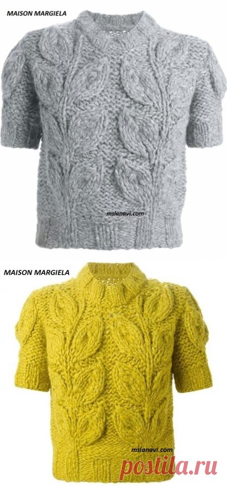 Пуловеры с мега листьями | Вяжем с Лана Ви