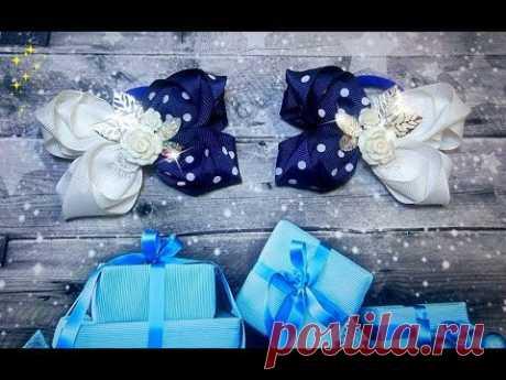 \ud83c\udf80\ud83d\udcda el lazo De ostentación para la alumna + MK de la decoración para bantiki \ud83c\udf80 School bows DIY