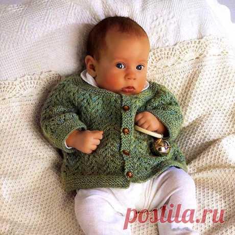 Ажурный жакет для новорожденного   Вязание от А до Я