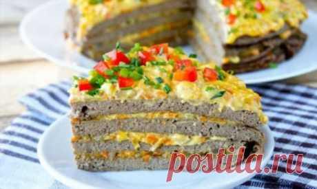 Печеночный пирог в духовке с овощами | Офигенная