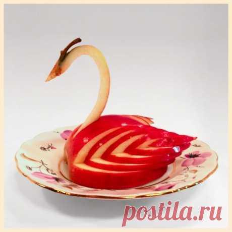 Лебедь из яблока (пошаговый мастер-класс)