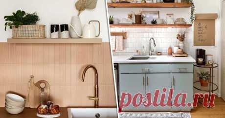 Самые красивые цветовые сочетания для кухни, от которых перехватывает дыхание (29 фото) От розового с белым сердечко екнуло!
