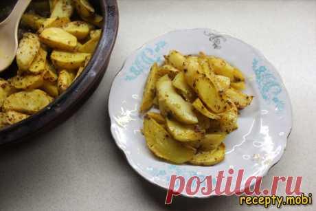 Хрустящий запеченный картофель в духовке без капли масла