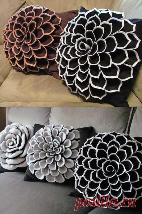 Decorative Pillow Pattern SOPHIA FLOWER Felt от SewYouCanToo