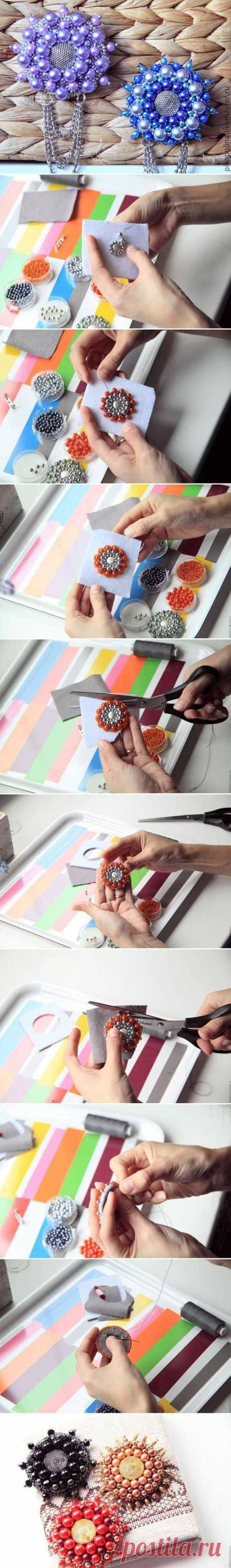 DIY Beads Flower Brooch | beads