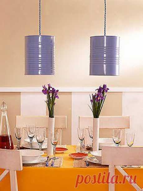 Стильный светильник из консервной банки | Дом-Цветник