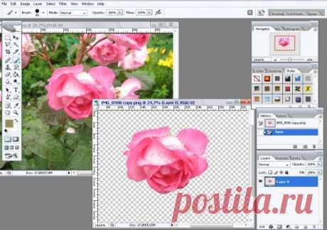 Как сделать фон на фото прозрачным :: как сделать фотографию прозрачной