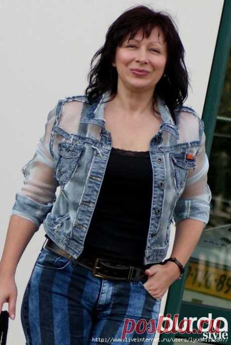 Denim without rules. Alteration of a jeans jacket