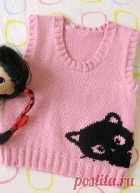 Pattern for a children's vest spokes