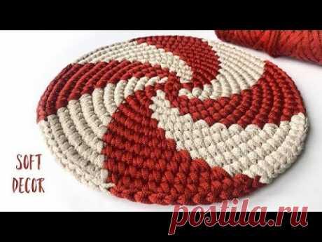 Завораживающая спираль | Круглый коврик | Soft Decor - Татьяна Чакур