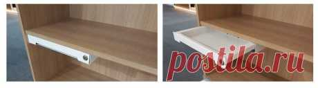 Как сделать выдвижной ящик в готовый шкаф или тумбу своими руками   Мебель своими руками   Пульс Mail.ru Три варианта, как можно встроить выдвижной ящик в уже собранный шкаф или тумбу и расширить функционал мебели.