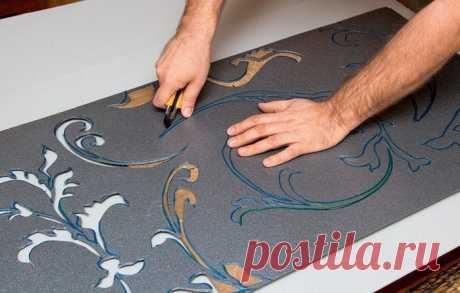 Volume patterns on a wall. Step-by-step master class of internal finishing
