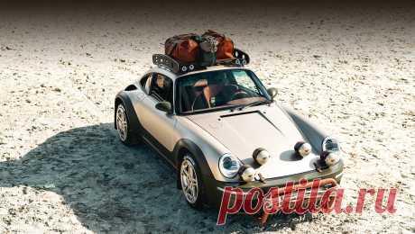 Кстати: концепт Ruf Rodeo поступит вмелкую серию Багажник на крыше, кенгурятник, увеличенный клиренс и вседорожные шины добавляют концепту колорита. Раскраска тоже интересна: основной золотисто-песочный