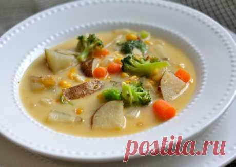 Молочный суп с овощамидля красивой фигуры - Полезные советы красоты