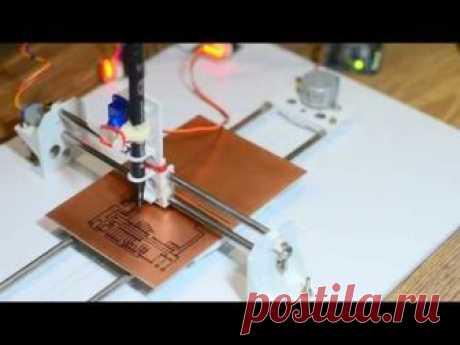 Печатная машина для чернил PCB с использованием Arduino и GRBL CNC