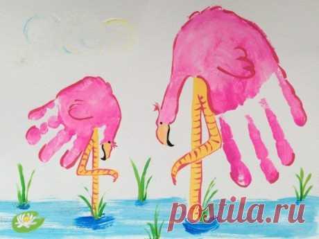 Рисуем ладошками — Поделки с детьми