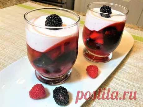 Летний Десерт ГЛАМУРНАЯ ЯГОДКА. Вкуснейший! Summer Dessert