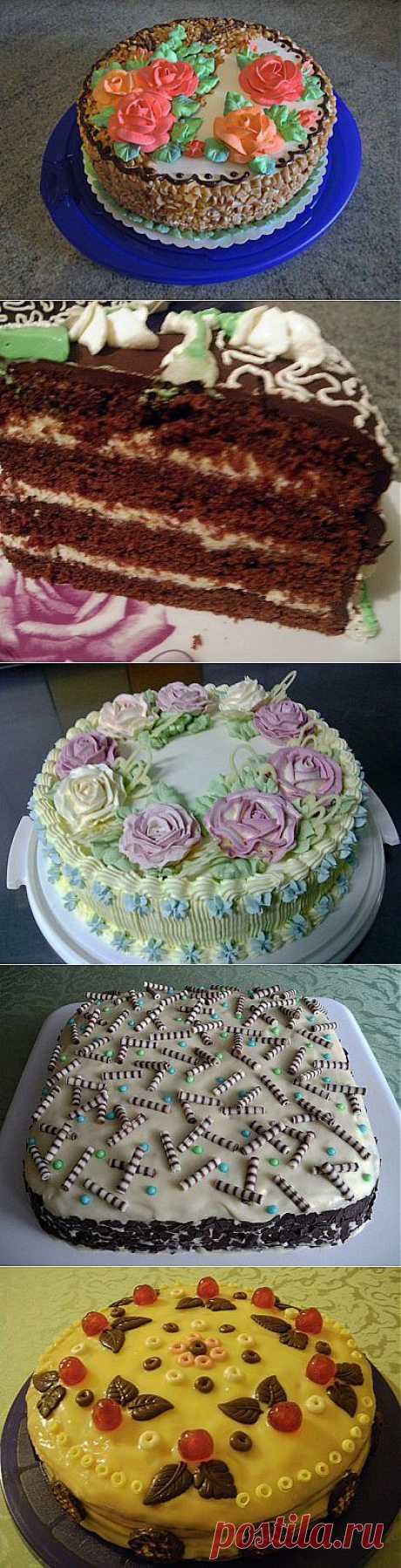 Моё хобби: тортики и пирожные (без мастики) : Торты (украшения)
