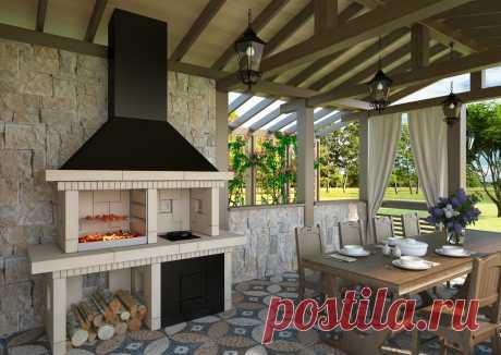 Мангалы с крышей для дачи своими руками - фото примеров Мангал с крышей для дачи может быть сделан в разнообразных интерпретациях. Например, на даче его можно установить стационарно.