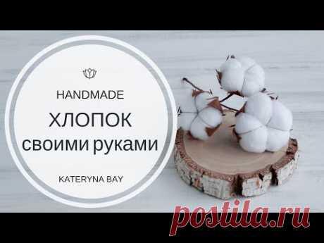Как сделать цветок хлопка своими руками  | Веточка хлопка |  DIY Cotton Stems